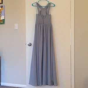 Lulu's light blue Air of Romance maxi dress